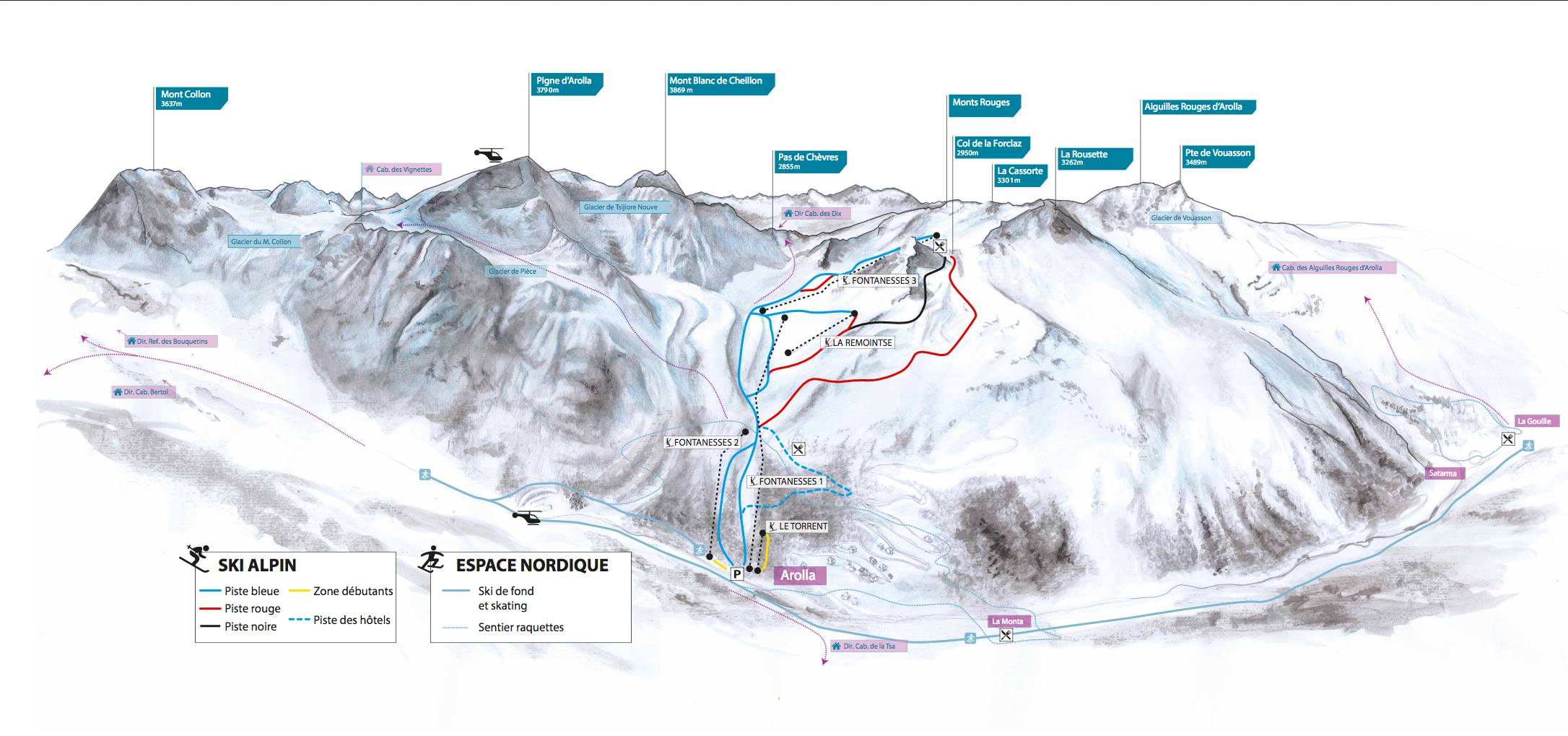 Arolla ski map, ©Wasabidesign 2013
